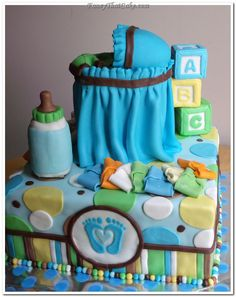 """Pinterest Baby Shower Ideas For Boys   Pin Tiny Toes"""" Boy Baby Shower Cake cake picture to pinterest."""