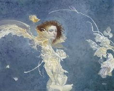 Fiona, by James C. Christensen. A fairy is an angel in another universe. This fairy is a fine art edition from The Greenwich Workshop, Inc.