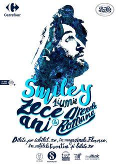Bilete la Smiley & The Band Smiley, Band, Movie Posters, Emoticon, Sash, Film Poster, Ribbon, Popcorn Posters, Bands
