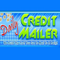 "Have you ever tried to build a list only to find its not as easy as the ""pros""make it out to be?I have some great news for you then, I just joined Daily Credit Mailer and found out they build a very responsive list for you to send to on a daily basis. Each credit can be used to send an e-mail to another DAILY CREDIT MAILER member. Just click on the ""Send Mailing"" link on the main menu to send your mailing in text or html format. The max numbe"