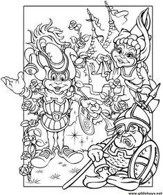 Coloring for adults - Kleuren voor volwassenen Coloring For Kids, Adult Coloring, Coloring Books, Coloring Pages, Fairy Land, Fairy Tales, Rainy Day Activities, Disney Cartoons, Pattern Art