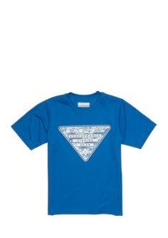 Columbia Super Blue PFG Triangle Tee Boys 8-20
