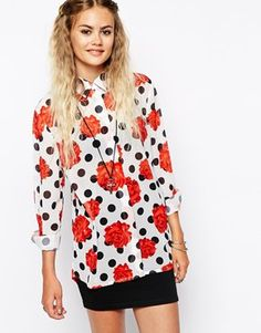 This season we can tell print clashing will be our new favourite hobby- and this shirt is a good place to begin!