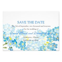 This DealsBlue Forget Me Not's Save the Date Garden Wedding Inviteonline after you search a lot for where to buy