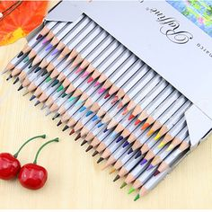 72 Color Fine Art Marco Drawing Non-toxic Oil Base Pencils Set For Artist Sketch #Unbranded