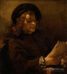Rembrandt Van Rijn Titus Van Rijn,the Artist's Son,reading oil painting reproductions for sale