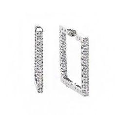 Gabriel & Co. - Square Diamond Hoop Earrings