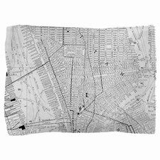 Vintage Map of New York City (1911) Pillow Sham for