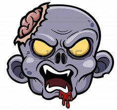 Illustration of Vector illustration of Cartoon zombie vector art, clipart and stock vectors. Graffiti Doodles, Graffiti Cartoons, Graffiti Drawing, Graffiti Art, Zombie Cartoon, Doodle Cartoon, Zombie Drawings, Halloween Drawings, Monster Illustration