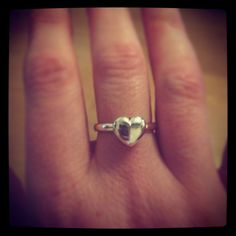 Hand cast heart ring, made in Sheffield by Jewellery by James Garland-Taylor