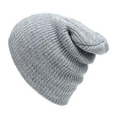 d5a91655ff68e Winter Casual Cotton Knit Cap Baggy Beanie Crochet Cap Outdoor Ski Cap