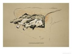 SLEEPING CHOW CHOW ON SETTEE LOVELY 1930/'S CECIL ALDIN DOG PRINT READY MOUNTED
