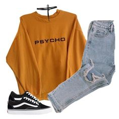 """Untitled #437"" by justice-ellis ❤ liked on Polyvore featuring Vans and Beaufille"