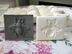 Clay Stamp Small Bee Pottery Press Mold Relief Mold or Sprig Mold Bisque Clay Stamp for Ceramic Decoration and Texture Etsy.com
