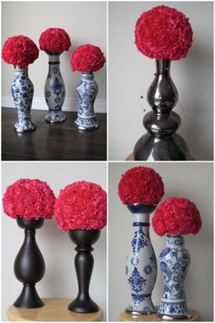 Love these flower balls with carnations and on top of candle sticks?  Carnations smell better than any flower and last forever!!!!  I love this for the living room and entry fill the place with yummy aroma