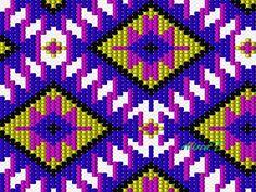 Tapestry Crochet Patterns, Bead Loom Patterns, Beading Patterns, Cross Stitch Patterns, Knitting Charts, Knitting Patterns, Tapete Floral, Mochila Crochet, Tapestry Bag