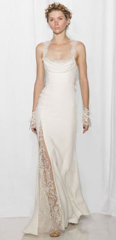 Featured Dress: Reem Acra; Wedding dress idea.