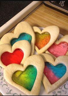 Jello heart cookies