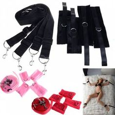 Adult Product Sex Bed Restraints Handcuffs Temperament Toys