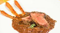 Kacper Margul: Smażona pierś z kaczki w sosie piernikowym Steak, Food, Eten, Steaks, Meals, Beef, Diet