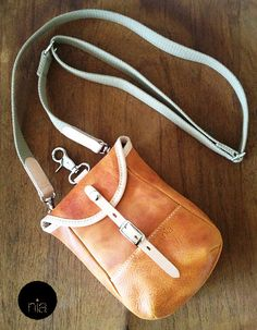 Cross Body bicycle Shoulder leather bag functional and by niaStore, ฿1200.00