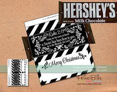 Christmas Hershey's Chocolate Candy Bar Wrapper Luke 2:11 - Digital PDF file Only #printable #hersheys #chocolate #candy #bar #wrapper #stocking #stuffer #Luke #Bible #luke211 #printable