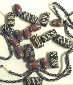 Antique African trade beads.