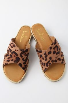 435f101954d Koren Leopard Espadrille Slide Sandals Leopard Espadrilles