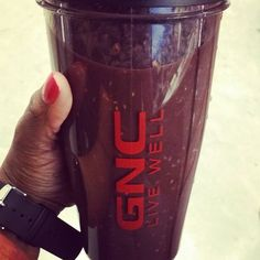 My @gnclivewell to go cup is the best! I have blended freshly squeezed  orange juice peaches raspberries strawberries and blackberries as well as GNC Maximum Greens. To sweeten the deal I added two packs of @nektarnaturals.  I like my smoothies the healthy way!  #phzuniquediva #gncwow #gnclivewell #honey