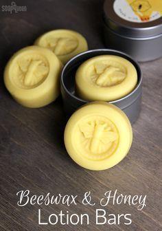 Lotion Bars DIY Beeswax and Honey Lotion Bars DIY // Learn how to make these lotion bars with olive oil, shea butter and beeswax.Beeswax and Honey Lotion Bars DIY // Learn how to make these lotion bars with olive oil, shea butter and beeswax. Lotion Bars Diy, Lotion En Barre, Homemade Soap Recipes, Beeswax Recipes, Castile Soap Recipes, Diy Bar, Homemade Beauty Products, Natural Hair Care Products, Home Made Soap