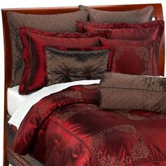 Luxury Home Plaza 9-Piece Elegant Oversized Comforter Set Embroidered W/ Matching Pillows Comforters