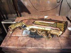 This is a crappy paint job on a nerf gun, but seeing this made me realize how cool this nerf design is.  i think i should pick one up.    STEAMPUNK Shot Gun NERF Rough Cut dart Blaster 2X4. $65.00, via Etsy.