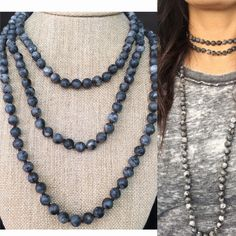 A personal favorite from my Etsy shop https://www.etsy.com/listing/492482098/matte-marbled-labradorite-necklace