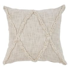 LR Home Carlton Khaki Diamonds Indoor Throw Pillow Natural 20 inch x 20 inch Indoor Square Hand - Crafted, White Smith And Noble, Diy Home, Home Decor, Decor Crafts, Diy Crafts, Geometric Throws, Pillows Online, Modern Farmhouse Kitchens, Farmhouse Decor