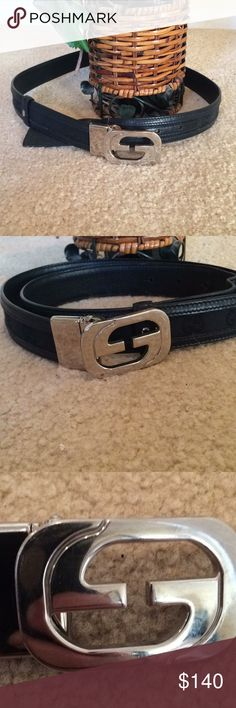 3174d122442 WOMEN S BLACK GUCCI BELT Black GUCCI BELT . Approx 37 inches long see pic  one inch