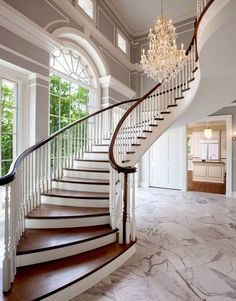 Luxurious French staircase and foyer