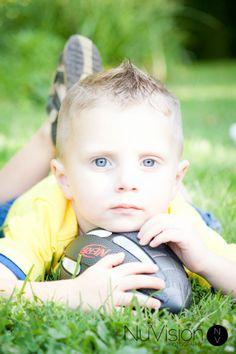Little Boy Football Photography