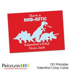 Printable dinosaur Valentine cards. is it sad that I'm 21 and really want this card to be given to me? haha