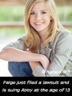 "Dance Moms Confessions/Facts by @hahah0ll13 Proof if you search ""TMZ Paige Hyland"" and read the article:)"