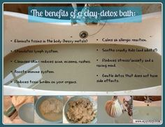 Clay. It is used to detox the body in a gentle yet effective way. Learn how to take a clay bath and why would would even want to!