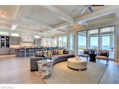 27380 Hickory BLVD, Bonita Beach, FL 34134 | Beach house with open floor plan and large windows overlooking the Gulf of Mexico - Naples Modern Contemporary Homes for Sale