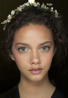 Backstage at Dolce  Gabbana Spring/Summer 2014, Fashion Week, Milan, Italy, sicily, hair, make-up, beauty, hairstyle, braids, flowers