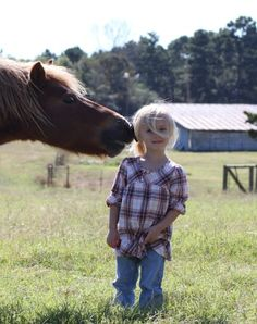 The friendship between a horse and girl!