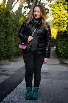 Piumino, stivaletti e una borsa profumata (fashion blogger, curvy, curves, curvy blogger, curvy look, look, outfit, herno, zara, leplas, bag, boots, streetstyle, street style)