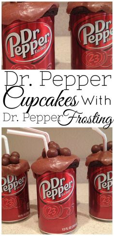 These gluten-free Dr Pepper cupcakes are so delicious and will knock the socks out of all Dr Pepper soda fans! They even come with Dr Pepper frosting that really seals the deal of this tasty dessert.