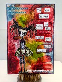 Claudine's Art Corner: Stampotique Challenge 152 - Sentimental (Words or Phrases)