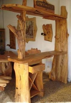 Google and search on pinterest for Muebles de cocina de madera rusticos