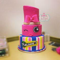 Lippy Lipstick Shopkins cake!!!