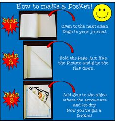 How to make a pocket in the writing notebook