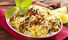Hyderabadi Mutton Gosht Biryani with Kohinoor Gold Basmati Rice Recipe Rice Recipes, Indian Food Recipes, Chicken Recipes, Ethnic Recipes, Vegetarian Recipes, Arroz Biro Biro, Kabuli Pulao, Paella, Hyderabadi Cuisine